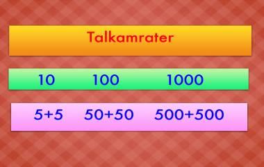 Spelet Talkamraterna    10, 100, 1000