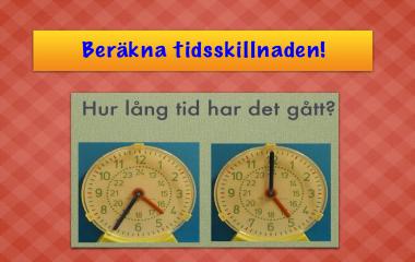 Spelet Beräkna tidsskillnaden i minuter