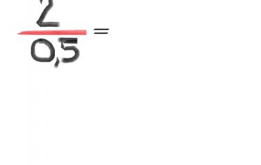 Spelet Dividera med 0,5 och 0,1