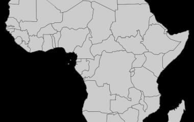Spelet Länder i Afrika