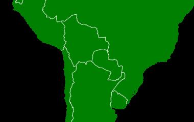 Spelet Länder i Sydamerika