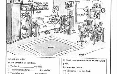 Spelet Prepositioner av plats på engelska