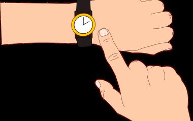 Spelet Beräkna tidsskillnad, timmar och minuter