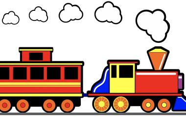 Spelet Huvudräkning med Tåget