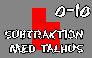 Spelet Subtraktion med talhus 0-10