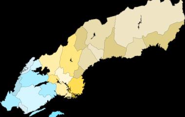 Spelet Sveriges landskap i quiz