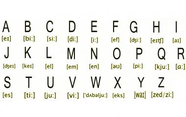 engelska alfabetet uttal