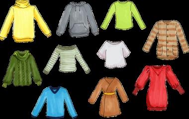 Spelet Färger på kläder