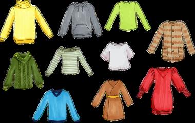Spelet Ord för kläder och mönster