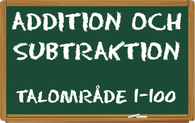 Spelet Addition och subtraktion 1-100