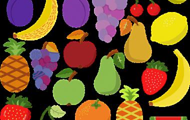 Spelet Lär dig frukter och bär
