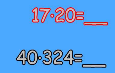 Spelet Multiplikation med två- och tresiffriga tal