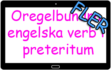 Spelet Fler oregelbundna verb i preteritum