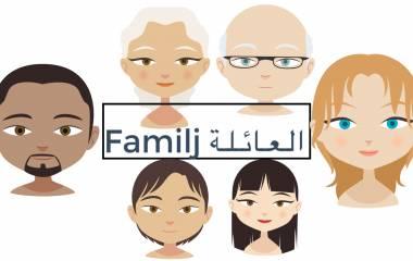 Spelet Familj på arabiska