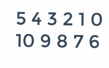 Spelet Siffror 1-10 på arabiska