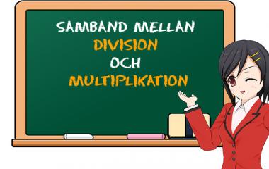 Spelet Samband mellan division och multiplikation