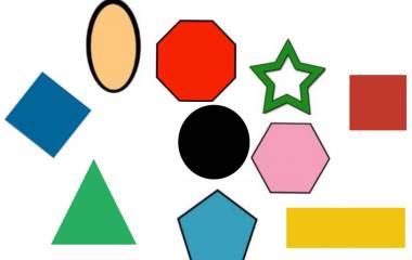 Spelet Geometriska former på arabiska