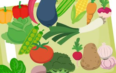 Spelet Grönsaker på arabiska