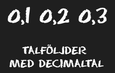 Spelet Talföljder med decimaltal