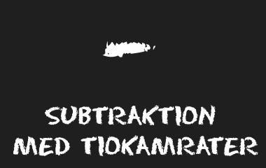 Spelet Subtraktion med tiokamrater