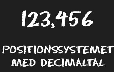 Spelet Positionssystemet med decimaltal