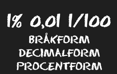 Spelet Bråkform Decimalform Procentform