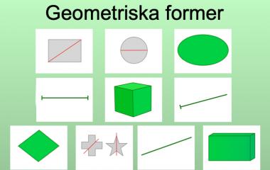 Spelet Matteglosor geometri