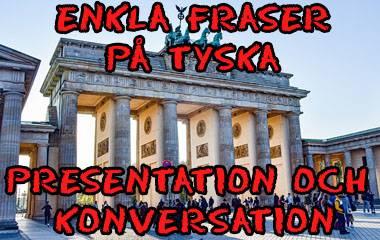 Spelet Enkla fraser på tyska för presentation och konversation