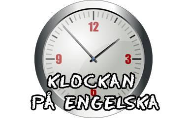 Spelet Klockan på engelska