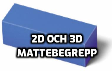 Spelet Mattebegrepp 2D och 3D