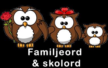 Spelet Rättstavning av familjeord och skolord