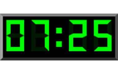 digital klocka med stora siffror