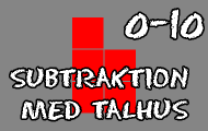 Subtraktion med talhus 0-10