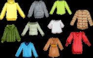 Spela Färger på kläder
