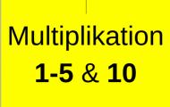 Multiplikationstabeller 1-5, 10
