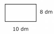 Areaberäkning på rektangel, kvadrat och triangel