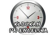 Klockan på engelska