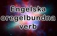 Vanliga oregelbundna verb
