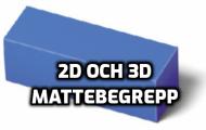 Mattebegrepp 2D och 3D